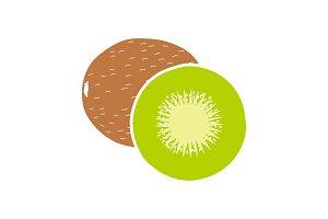 Kiwi glyph color icon