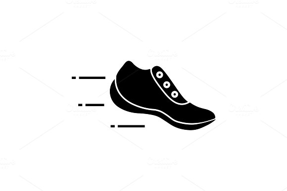 Flying Sneaker Glyph Icon Icons Creative Market