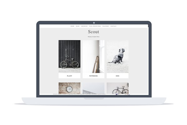 WordPress Portfolio Themes: Hipster Theme - Scout - Portfolio Wordpress Theme