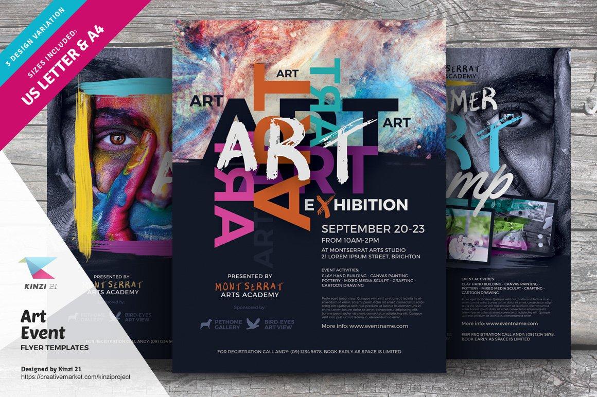 Art Event Flyer Templates Creative Photoshop Templates