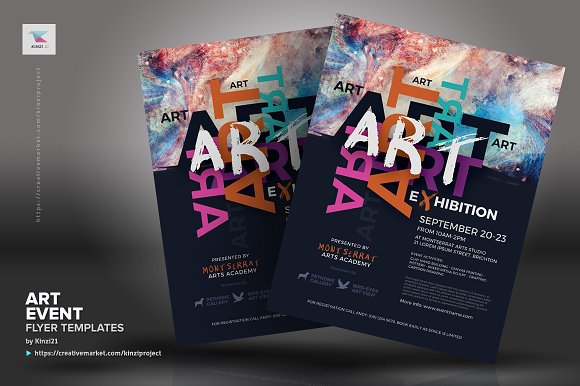 art event flyer templates flyer templates creative market