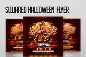 Squared Halloween Flyer