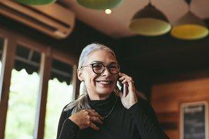 Senior woman making a phone call