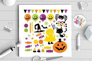 Halloween Trick Or Treat Icons Set