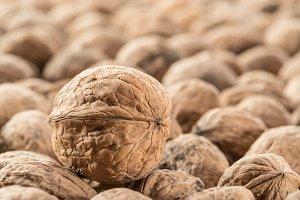 Walnuts. Food background.