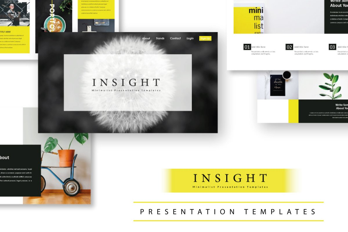 Insight Minimal Keynote Template ~ Keynote Templates