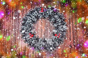 Merry Christmas. Christmas wreath on