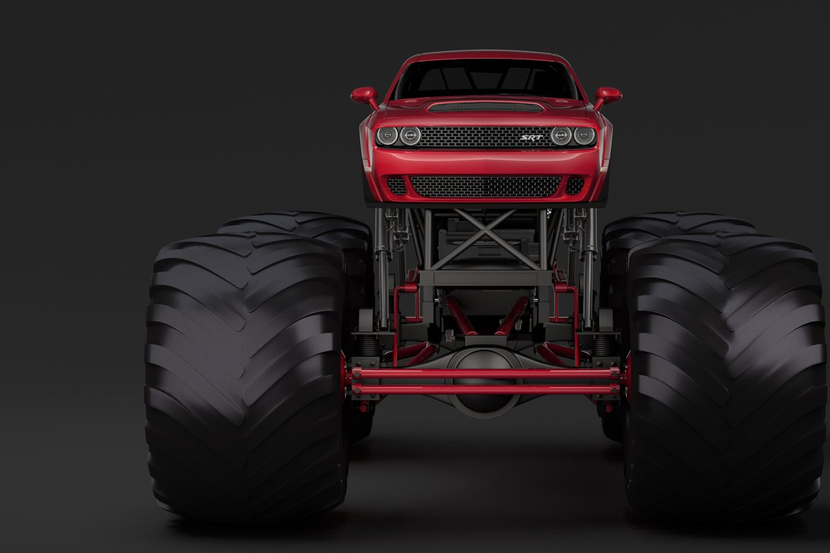 Monster Truck Dodge Challenger Demon