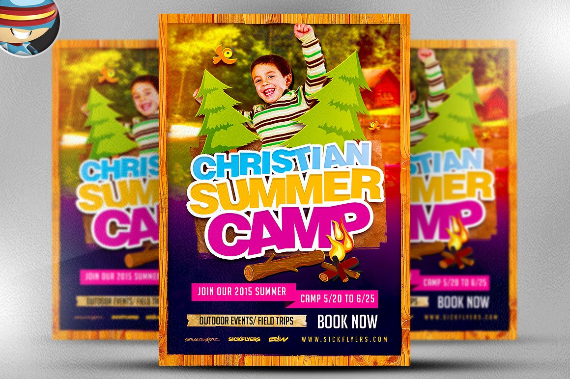 flyer heroes flyerheroes christian flyer templates collection christian summer camp flyer template