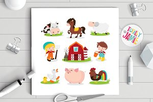 Happy Barnyard Farm Friends Set