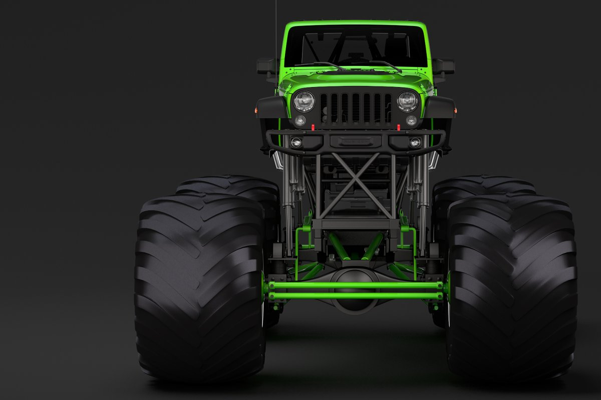 Monster Truck Jeep Wrangler Rubicon