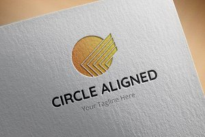 Circle-Aligned Logo Template