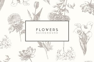 Trendy floral background