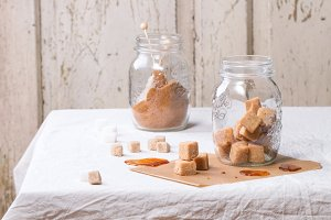 Fudge in jar