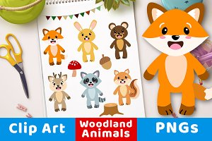 Cute Woodland Animals Clipart