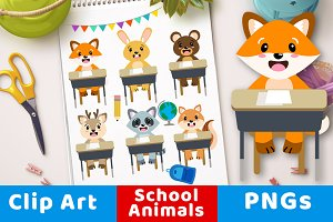 Back to School Animals Clipart
