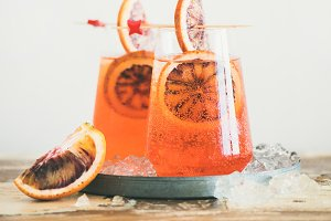 Aperol Spritz cocktail drink with