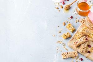 Healthy homemade cereal muesli grano