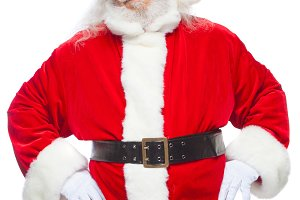 Christmas. Santa Claus put his hands