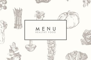 Trendy restaurant menu design