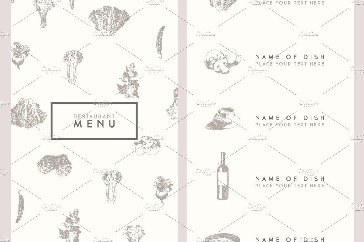 Trendy restaurant menu design ~ Flyer Templates ~ Creative