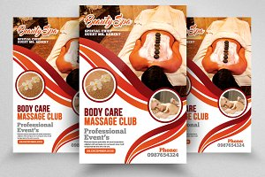 Body Massage & Spa Flyer Template