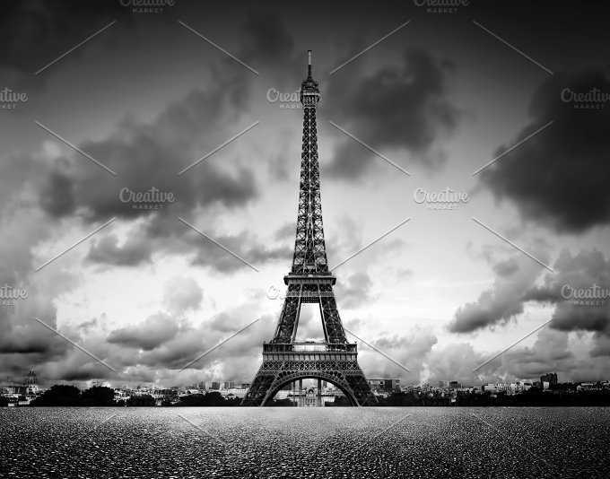 Eiffel Tower Images Black And White: Eiffel Tower In Black And White