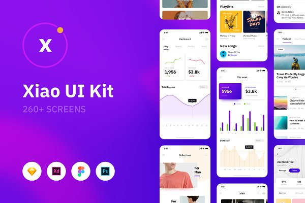 Website Templates: 89px - Xiao iOS UI Kit