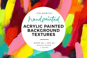 Abstract painted background textures