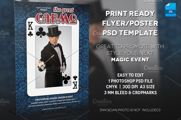 Magician Poster Print Template v.2 - Flyers