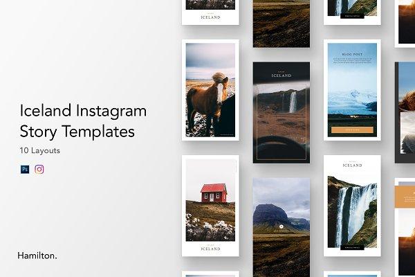 Social Media Templates: Peter Hamilton - Iceland Instagram Story Templates