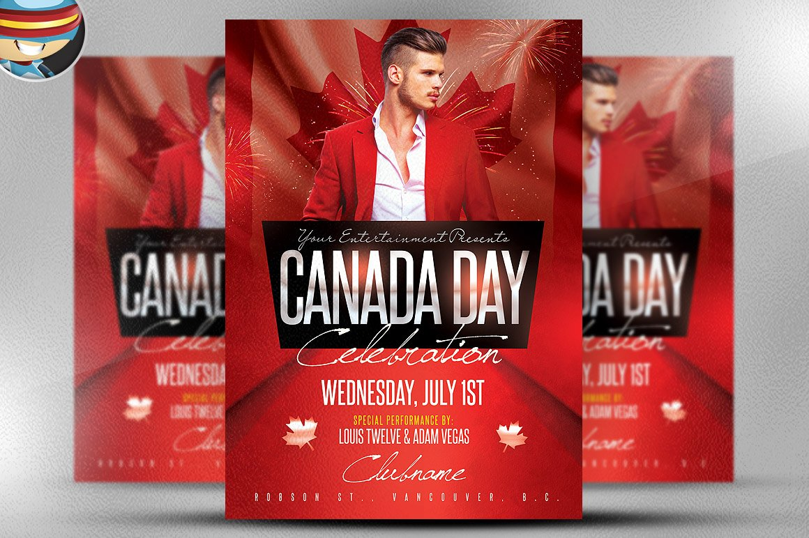 Canada day flyer template 2 flyer templates on creative market for Flyerheroes free