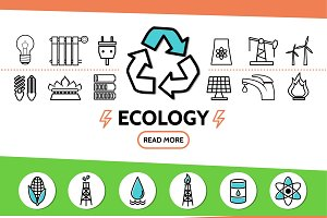Ecology and energy safety concept