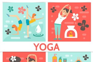 Flat yoga composition