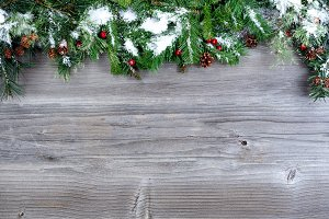Christmas on Vintage Wood