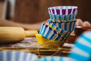 Colorful cupcake wrappers