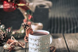 mulled wine in a cup