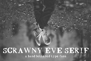 SCRAWNY EVE Hand Drawn Serif