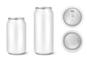 Beer can. Vector set.