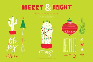 Merry & Bright (Clipart)