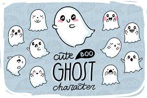 Cute Ghost + patterns