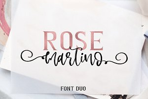 Rose Martino Font Duo