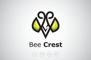 Bee Crest Logo Template