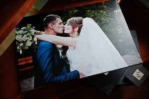 Elegant grey photo book or photo alb