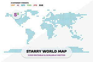 Starry World Map