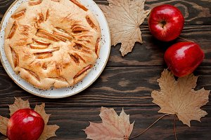 Tasty homemade season apple pie
