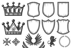 Vintage Heraldic Elements Collection