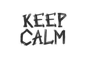 Keep calm words grunge vector