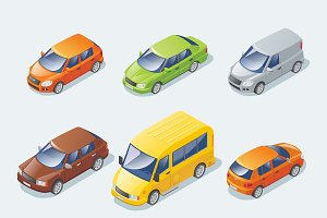 Isometric Modern Cars Collection