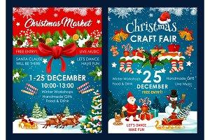Christmas fair decoration vector